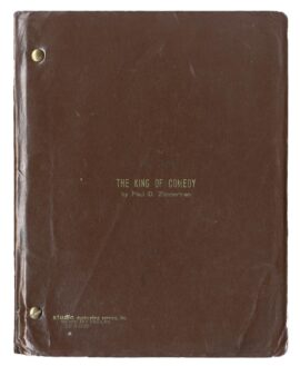 KING OF COMEDY, THE (1983) Final draft script by Paul D. Zimmerman, ca. 1981