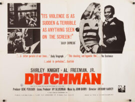 DUTCHMAN (1967) UK quad poster