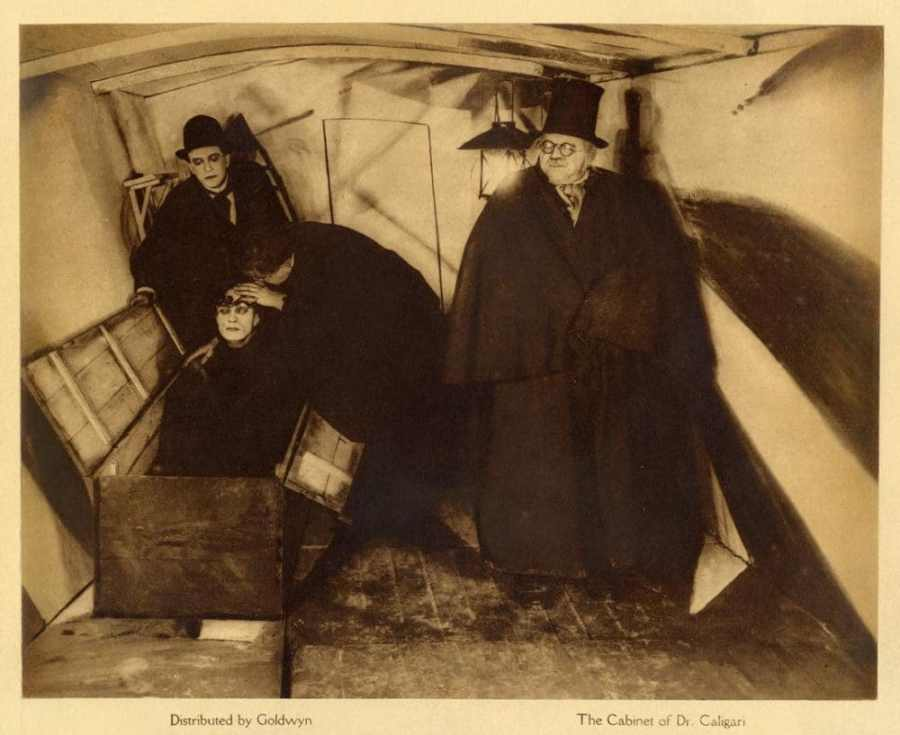The Cabinet of Dr. Caligari – Two Visitors Examine Cesare