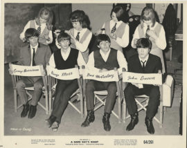 BEATLES IN A HARD DAY'S NIGHT Original Photo (1964)
