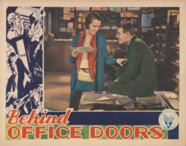 BEHIND OFFICE DOORS PRE-CODE LOBBY CARD WITH MARY ASTOR (1931)
