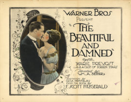 "(FITZGERALD, F. SCOTT) THE BEAUTIFUL AND DAMNED (1923) Six vintage original hand-tinted 11 x 14"" (28 x 36 cm.) lobby cards, USA"