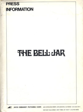 (PLATH, SYLVIA, SOURCE) THE BELL JAR (1979) Vintage original presskit.