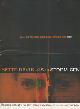 BETTE DAVIS IN STORM CENTER [ART BY SAUL BASS] PRESSBOOK (1956)
