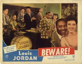 BEWARE/LOUIS JORDAN AND BAND LOBBY CARD (1946)