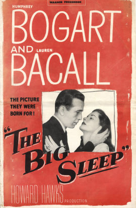 BIG SLEEP, THE /ORIGINAL PRESSBOOK (1945)