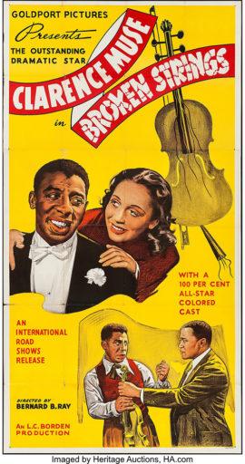 BROKEN STRINGS/ THREE SHEET POSTER (1940)
