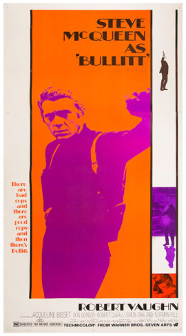 BULLITT THREE SHEET (1968)