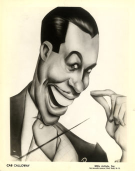 CAB CALLOWAY CARICATURE PHOTO (ca 1945)