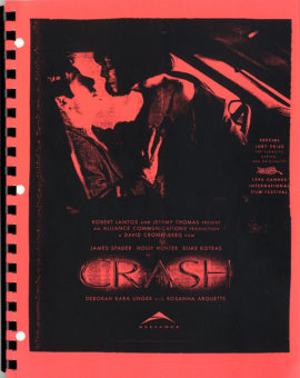 (BALLARD, J.G., SOURCE) (CRONENBERG, DAVID, DIRECTOR/WRITER) CRASH (1996) Vintage original film script