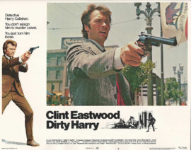 DIRTY HARRY LOBBY CARD WITH CLINT EASTWOOD (1971)