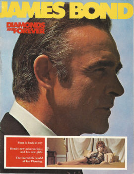 JAMES BOND DIAMONDS ARE FOREVER BRITISH SOUVENIR BOOK (1971)