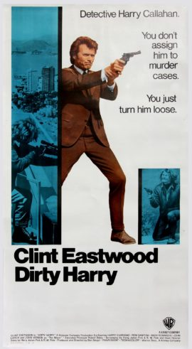 DIRTY HARRY (1971) THREE SHEET POSTER