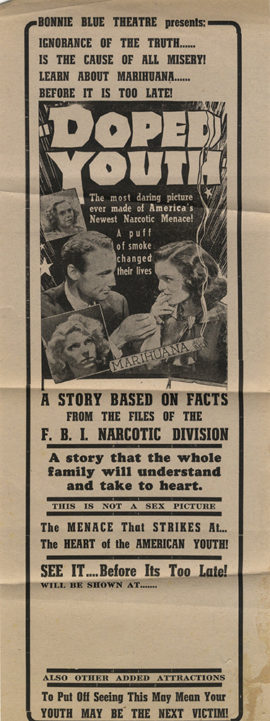 DOPED YOUTH [REEFER MADNESS] (1936, reissue, ca 1945)