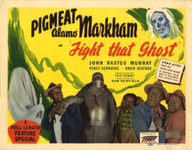 FIGHT THAT GHOST TITLE LOBBY CARD (1946)