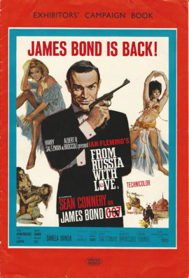 JAMES BOND FROM RUSSIA WITH LOVE BRITISH CAMPAIGN BOOK (1963)