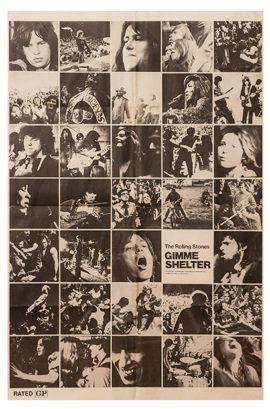 GIMME SHELTER HALF SUBWAY POSTER (1970)
