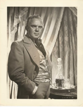 GONE WITH THE WIND -O24- THOMAS MITCHELL AS GERALD O'HARA IN FORMAL PORTRAIT