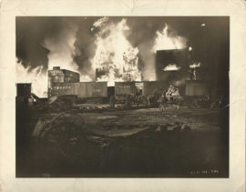 GONE WITH THE WIND -Y34- THE BURNING OF ATLANTA