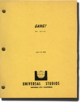 WALK PROUD (1979) Three Variant Scripts