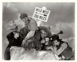 GO WEST (1940) / MARX BROS. STAMPED PORTRAIT BY CLARENCE BULL