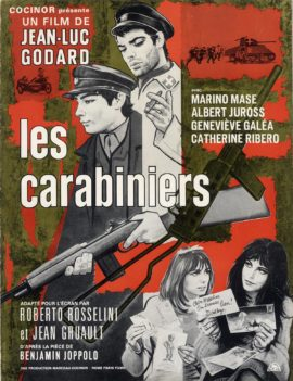 JEAN-LUC GODARD / Collection of 4 French pressbooks