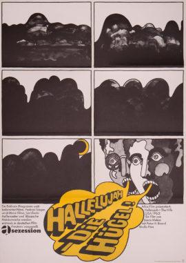 HALLELUJAH THE HILLS (1963; 1st German release, 1965) POSTER