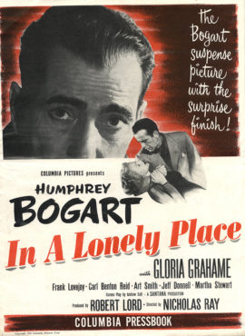 IN A LONELY PLACE CAMPAIGN BOOK (1950)