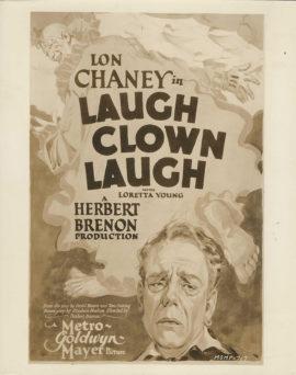 LON CHANEY/ LAUGH CLOWN LAUGH ONE SHEET POSTER PHOTO (1928)
