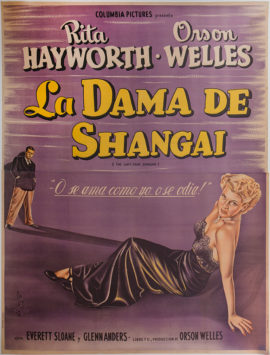 LADY FROM SHANGHAI, THE (1947 ARGENTINE POSTER