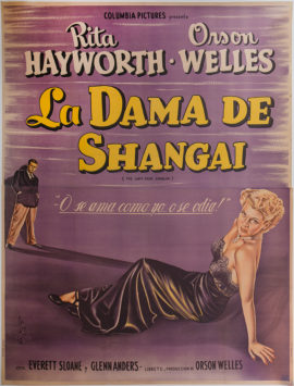 THE LADY FROM SHANGHAI ARGENTINE POSTER (1947)