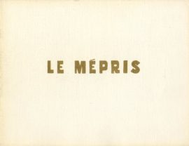 LE MEPRIS [CONTEMPT] (1963)