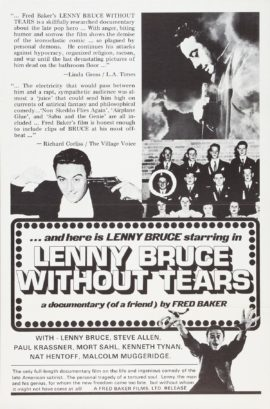 LENNY BRUCE WITHOUT TEARS (1972)