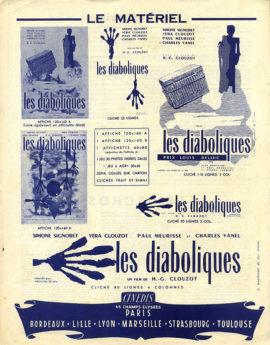 DIABOLIQUE [LES DIABOLIQUES] (1955) Vintage original pressbook, France.