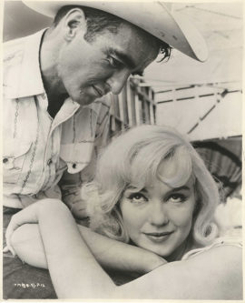 MARILYN MONROE AND MONTGOMERY CLIFT IN THE MISFITS (1961)