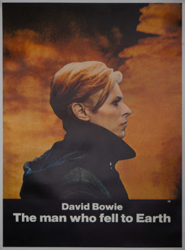 DAVID BOWIE IN THE MAN WHO FELL TO EARTH Half Subway Poster (1976)