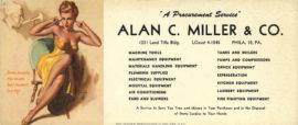 MARILYN MONROE (1948-49) Set of 4 ink blotters by Earl Moran