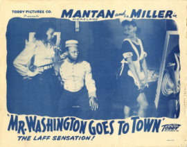 MR. WASHINGTON GOES TO TOWN /OVERSIZE PHOTO (1941; reissue, ca 1945)