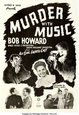 MURDER WITH MUSIC / ONE SHEET POSTER (1948)