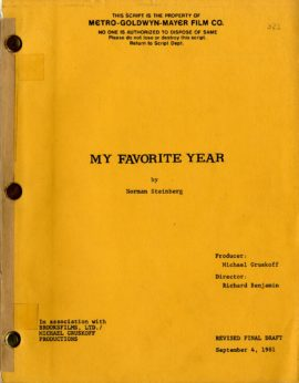MY FAVORITE YEAR (1981) Revised Final Draft script by Norman Steinberg