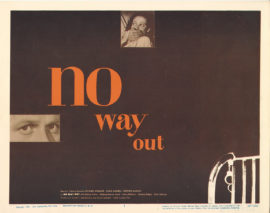 NO WAY OUT TITLE LOBBY CARD (1950)