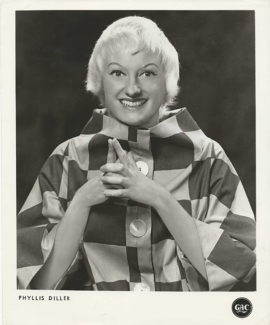 PHYLLIS DILLER IN EARLY GAC AGENCY TALENT HEAD SHOT (c. 1960)