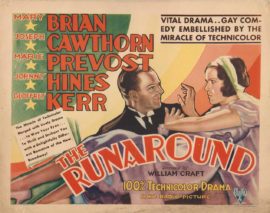 RUNAROUND, THE/EARLY TECHNICOLOR TITLE CARD (1931)