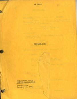 (HAWKS, HOWARD, DIRECTOR) RED LINE 7000. Vintage original film script.