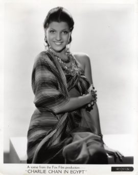 RITA HAYWORTH (CANSINO) / CHARLIE CHAN IN EGYPT (1935)