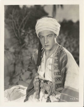 RUDOLPH VALENTINO AS THE SON OF THE SHEIK (1926)