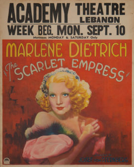 SCARLET EMPRESS, THE JUMBO WINDOW CARD(1934)