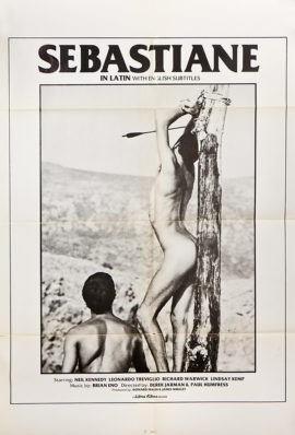 SEBASTIANE (1976; 1ST US release, 1978) ONE SHEET POSTER