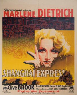 SHANGHAI EXPRESS EXQUISITE MARLENE DIETRICH BELGIAN POSTER (1932)