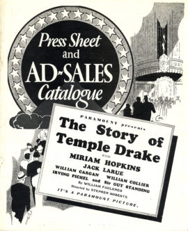 (FAULKNER, WILLIAM, ADAPTED FROM) STORY OF TEMPLE DRAKE, THE (1933)